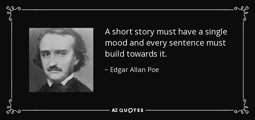 Quote by Edgar Allen Poe with an image of his face to the left of the text.