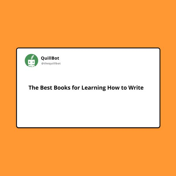 The Best Books for Learning How to Write